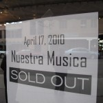 "Nuestra Musica Concert's ""Sold Out"" Sign"